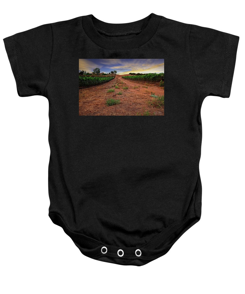 Winery Baby Onesie featuring the photograph Domaine Vineyards by Bill Thomas
