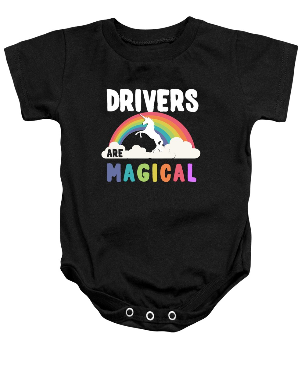 Unicorn Baby Onesie featuring the digital art Drivers Are Magical by Flippin Sweet Gear