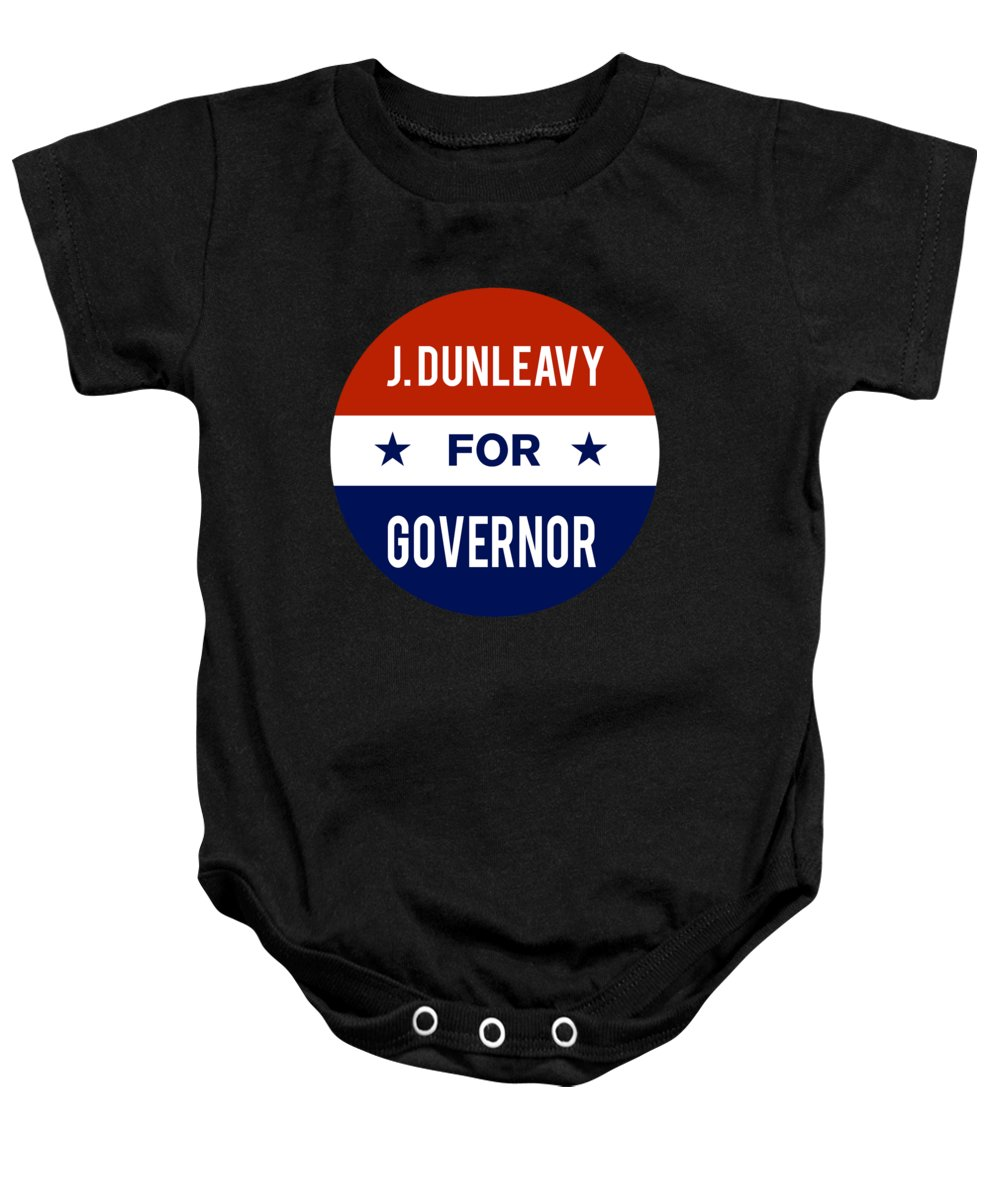 Election Baby Onesie featuring the digital art J Dunleavy For Governor 2018 by Flippin Sweet Gear
