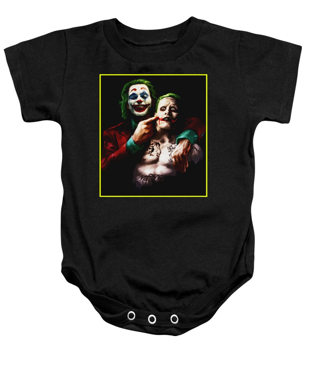 Jared Leto Baby Onesie featuring the digital art Jared Leto by Misel Davon