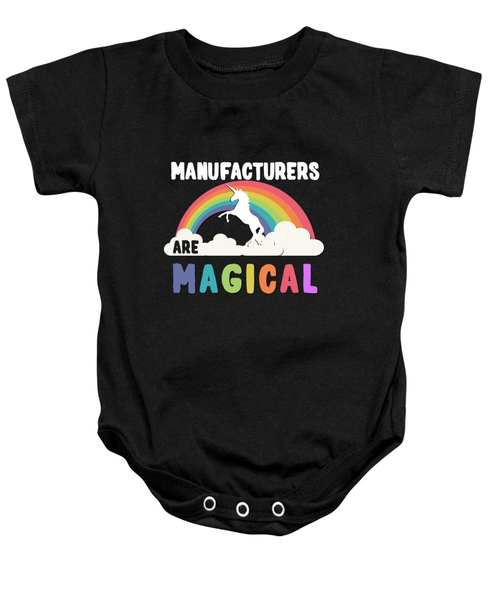Unicorn Baby Onesie featuring the digital art Manufacturers Are Magical by Flippin Sweet Gear