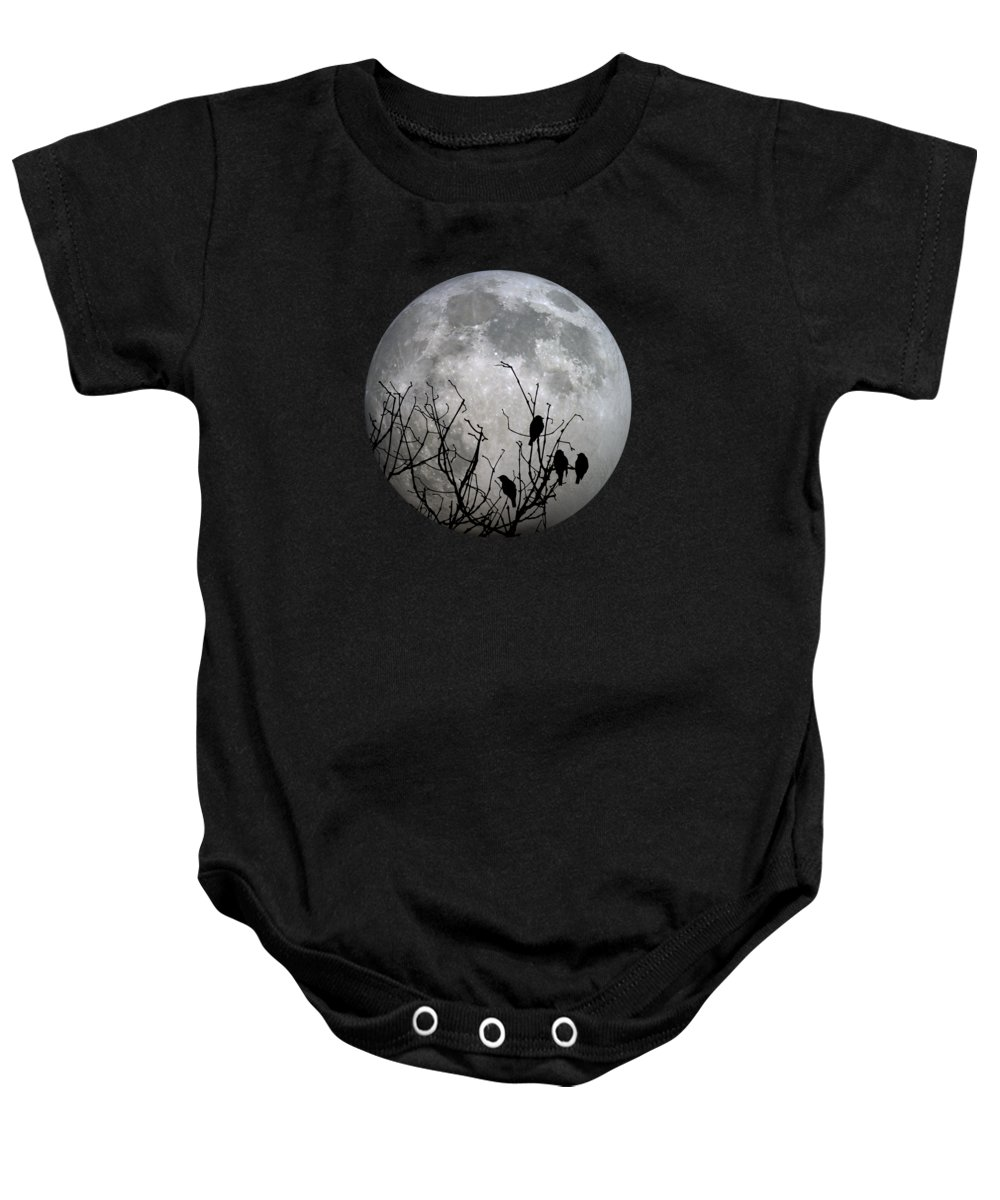 Full Baby Onesie featuring the photograph Midnight Moonshiners by Betsy Knapp