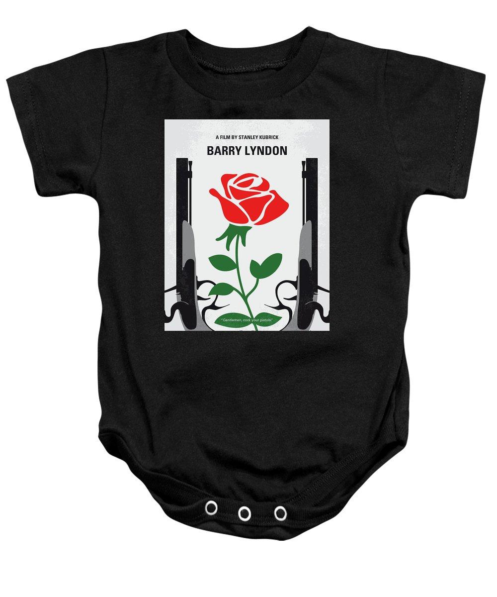 Barry Baby Onesie featuring the digital art No1019 My Barry Lyndon Minimal Movie Poster by Chungkong Art