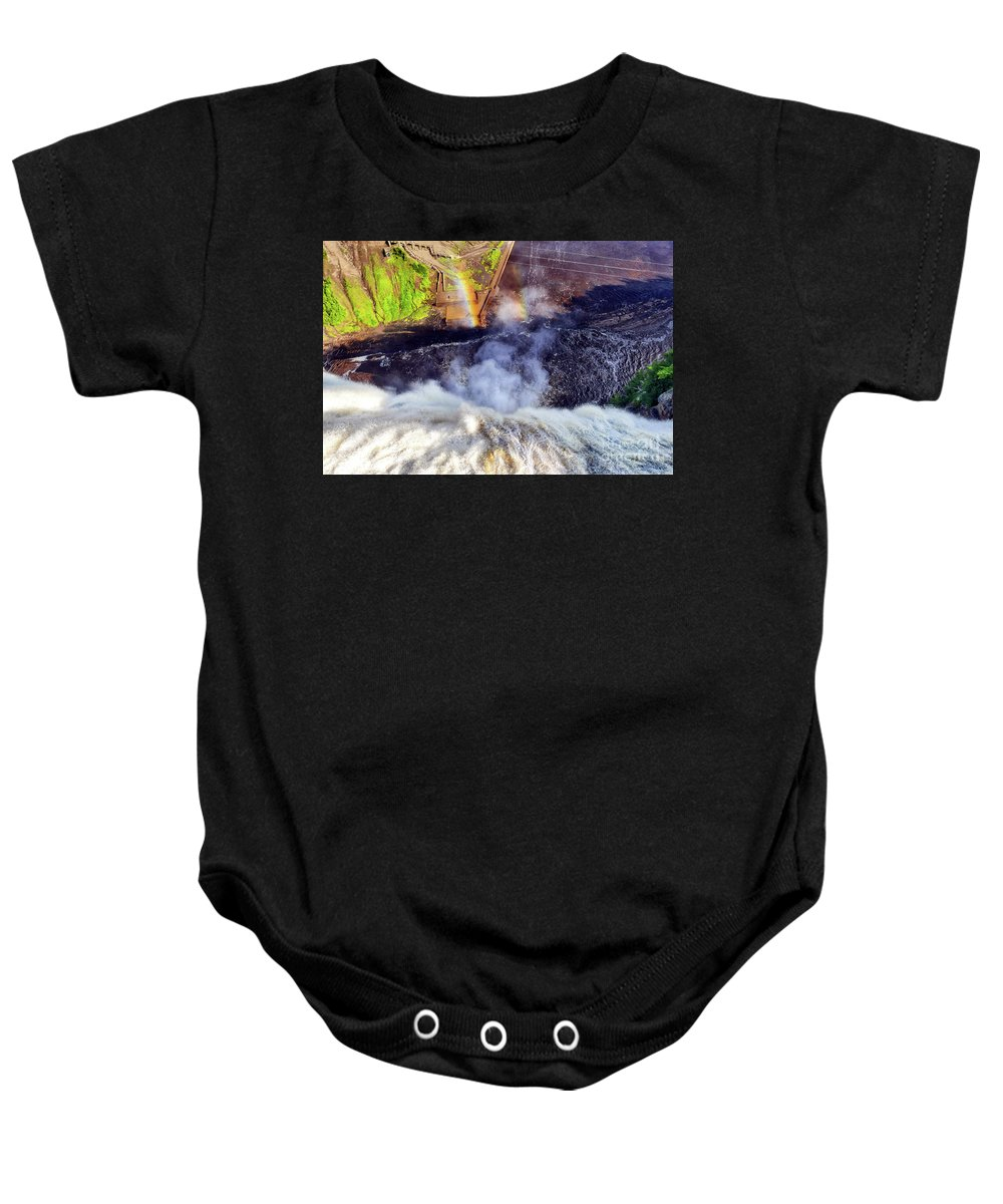 Montmorency Baby Onesie featuring the photograph On The Edge by Amy Dundon