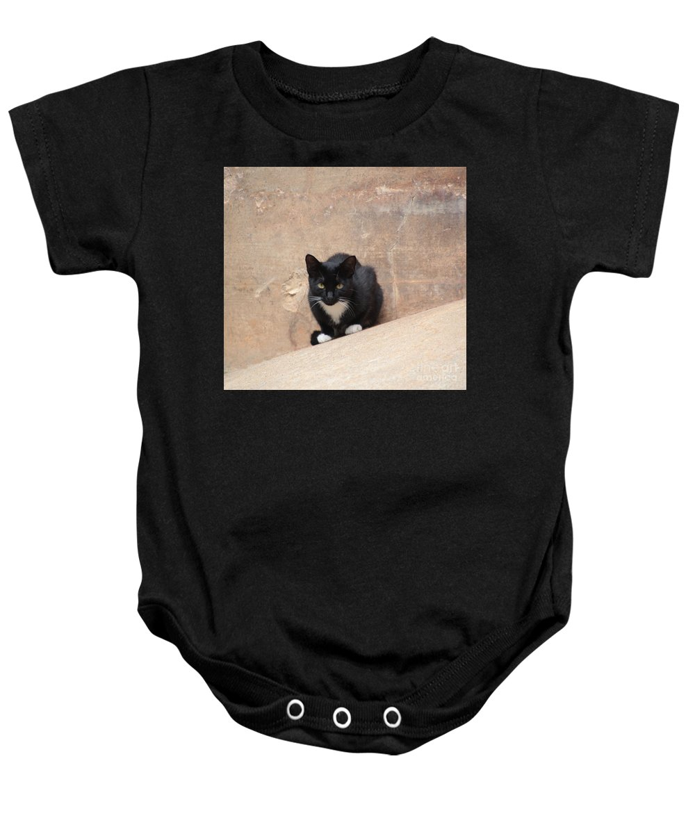 Pharaoh Cat Baby Onesie featuring the photograph Pharaoh Cat by Melvin Jamison