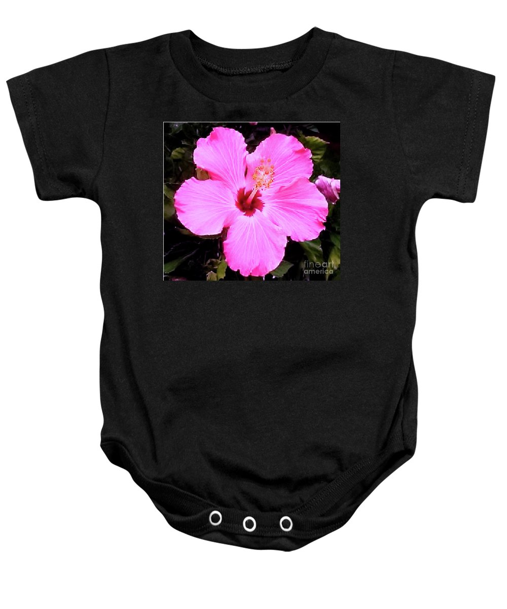 Pink Hibiscus Baby Onesie featuring the photograph Pink Hibiscus by James Fannin