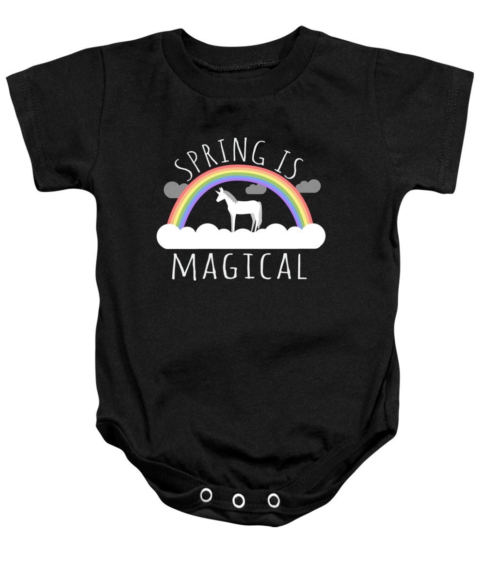 Unicorn Baby Onesie featuring the digital art Spring Is Magical by Flippin Sweet Gear