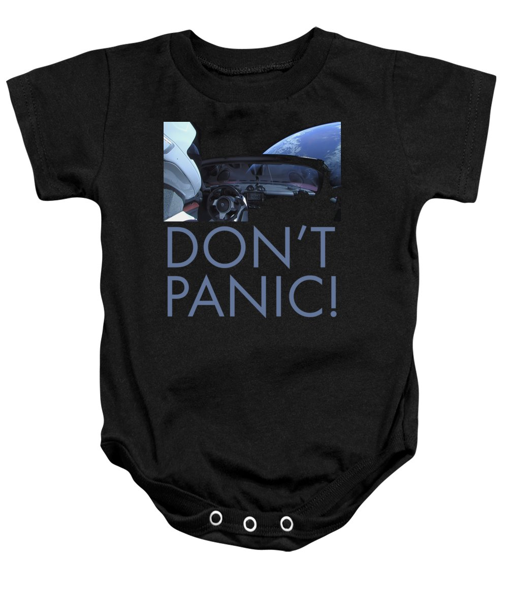 Dont Panic Baby Onesie featuring the photograph Starman Don't You Panic Now by Filip Hellman