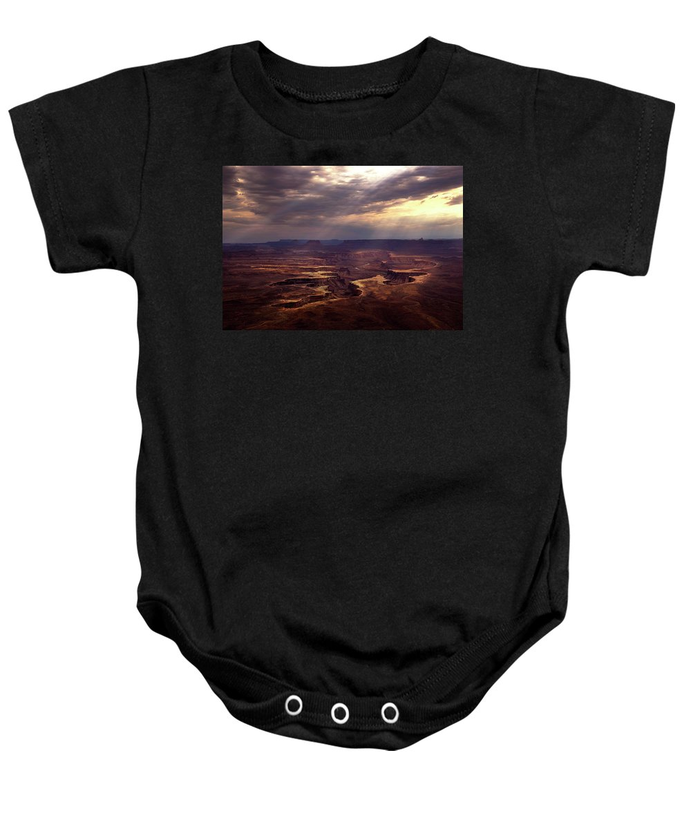 Island In The Sky Baby Onesie featuring the photograph The Day After by Dora Artemiadi