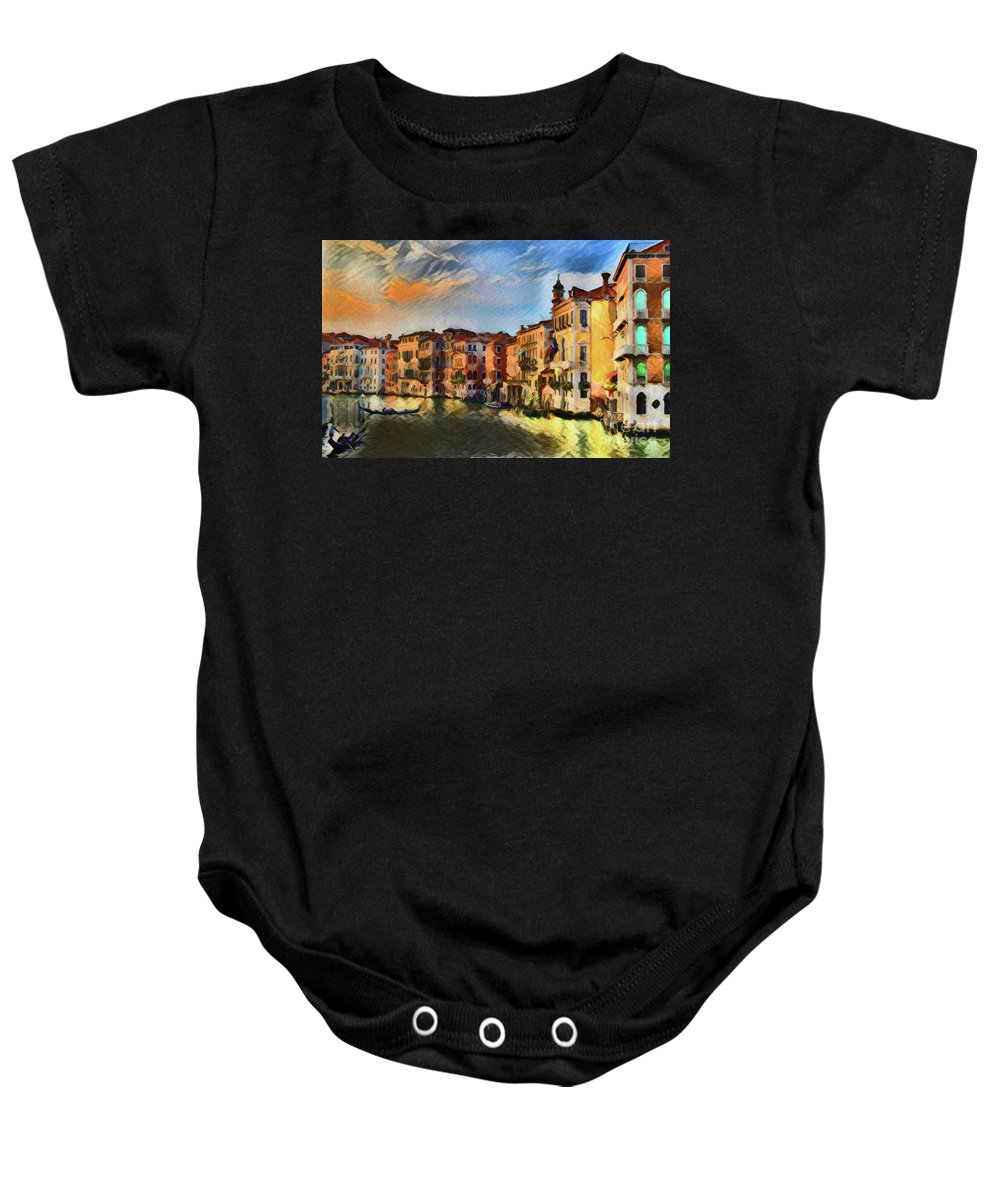 Venice A8-1 Baby Onesie featuring the photograph Venice A8-1 by Ray Shrewsberry