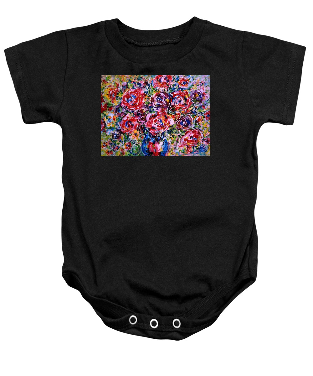 Flowers Baby Onesie featuring the painting Happy Expressions by Natalie Holland