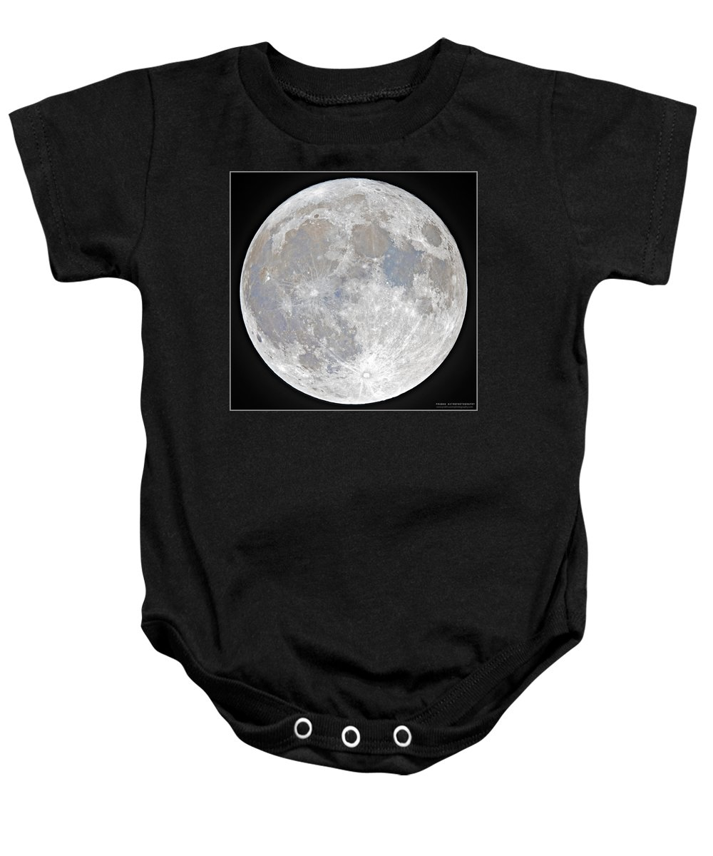 Fullmoon Baby Onesie featuring the photograph October 2020 Halloween Full/Blue Moon by Prabhu Astrophotography