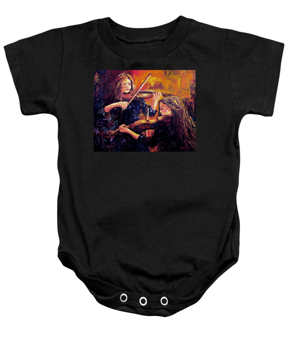 Recital Baby Onesie featuring the painting Recital by David G Paul