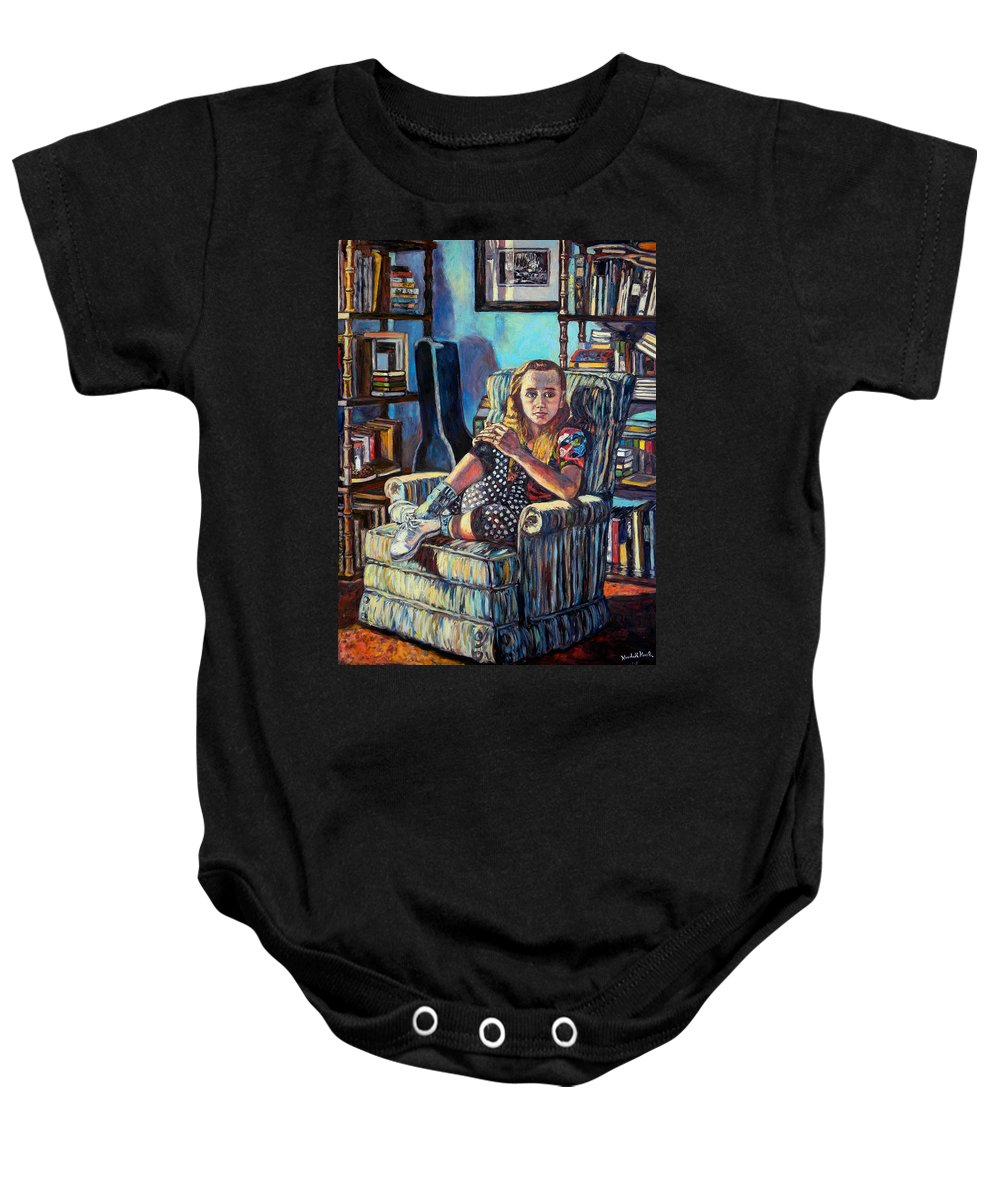Figure Baby Onesie featuring the painting Samantha by Kendall Kessler