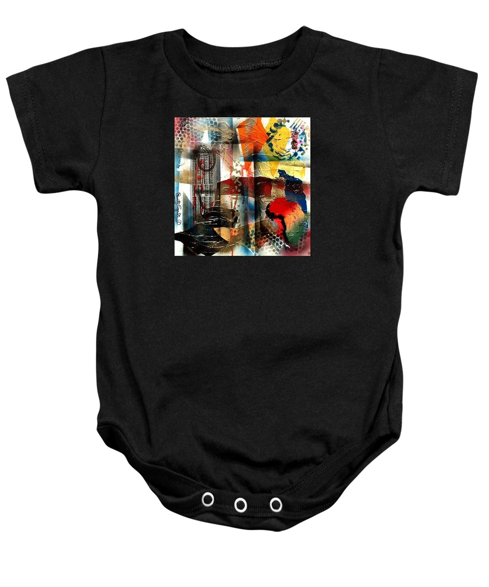 Everett Spruill Baby Onesie featuring the painting Stolen into Slavrey by Everett Spruill