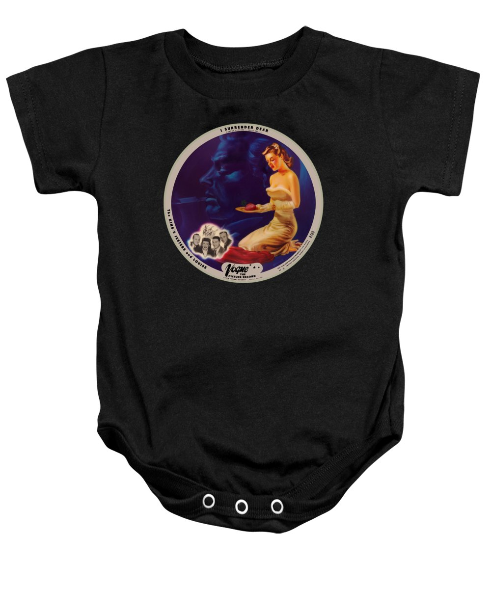 Vogue Picture Record Baby Onesie featuring the digital art Vogue Record Art - R 708 - P 3 - Square Version by John Robert Beck