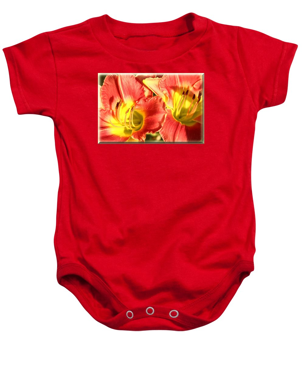Daylily Baby Onesie featuring the photograph Daylily by Karen Beasley