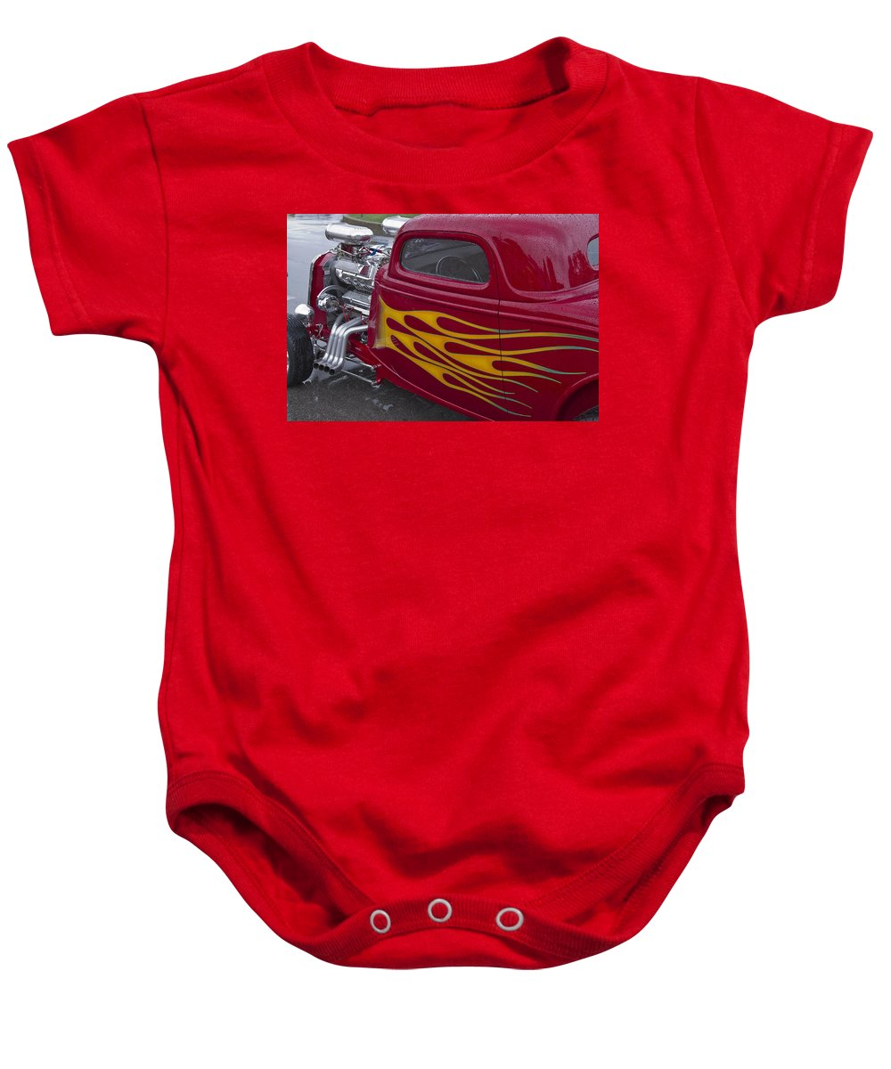 American Baby Onesie featuring the photograph Hot Dual by Jack R Perry