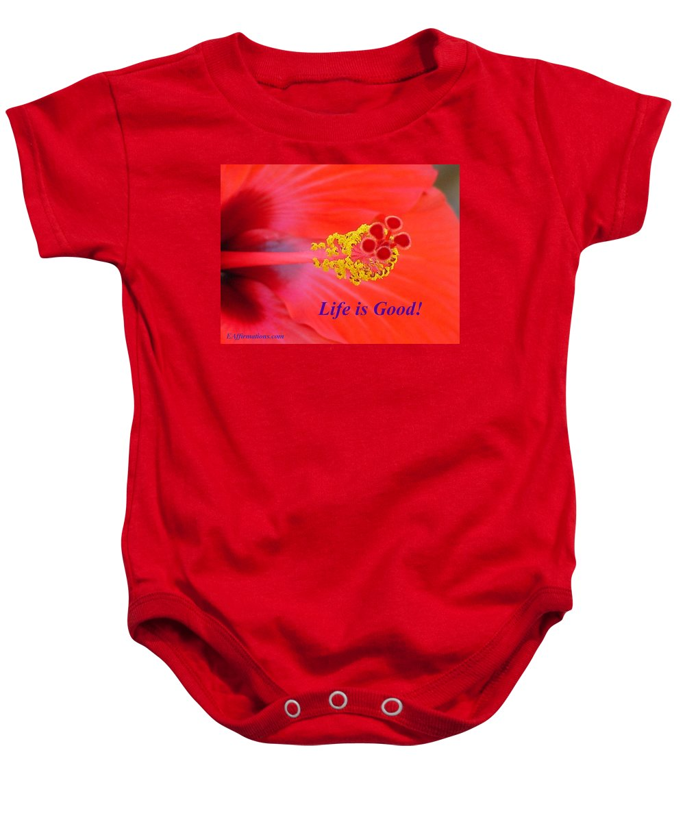 Hawaiian Flower Baby Onesie featuring the photograph Life Is Good by Pharaoh Martin