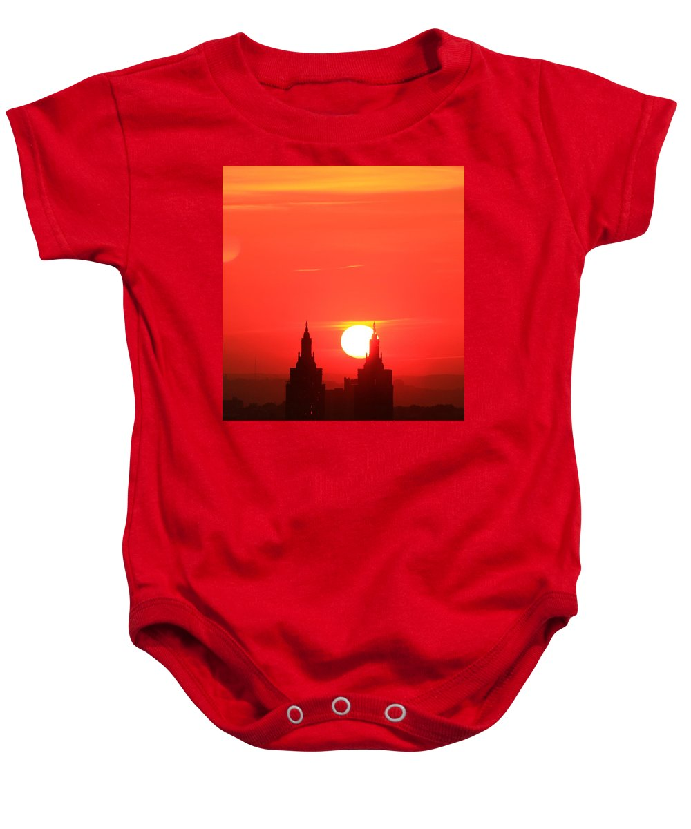 New York City Baby Onesie featuring the photograph Moving Right by Catie Canetti