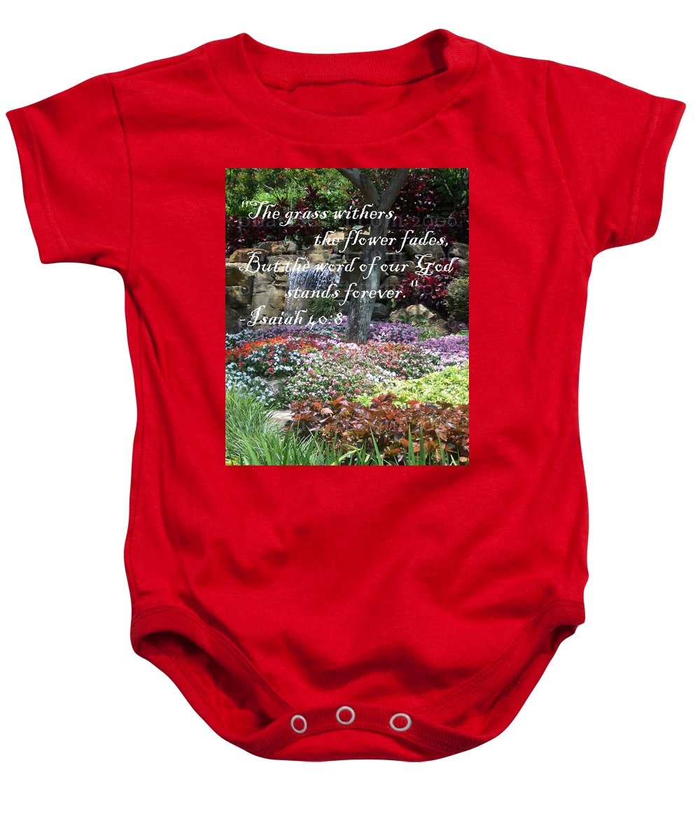 Inspirational Baby Onesie featuring the photograph Stands Forever by Pharris Art