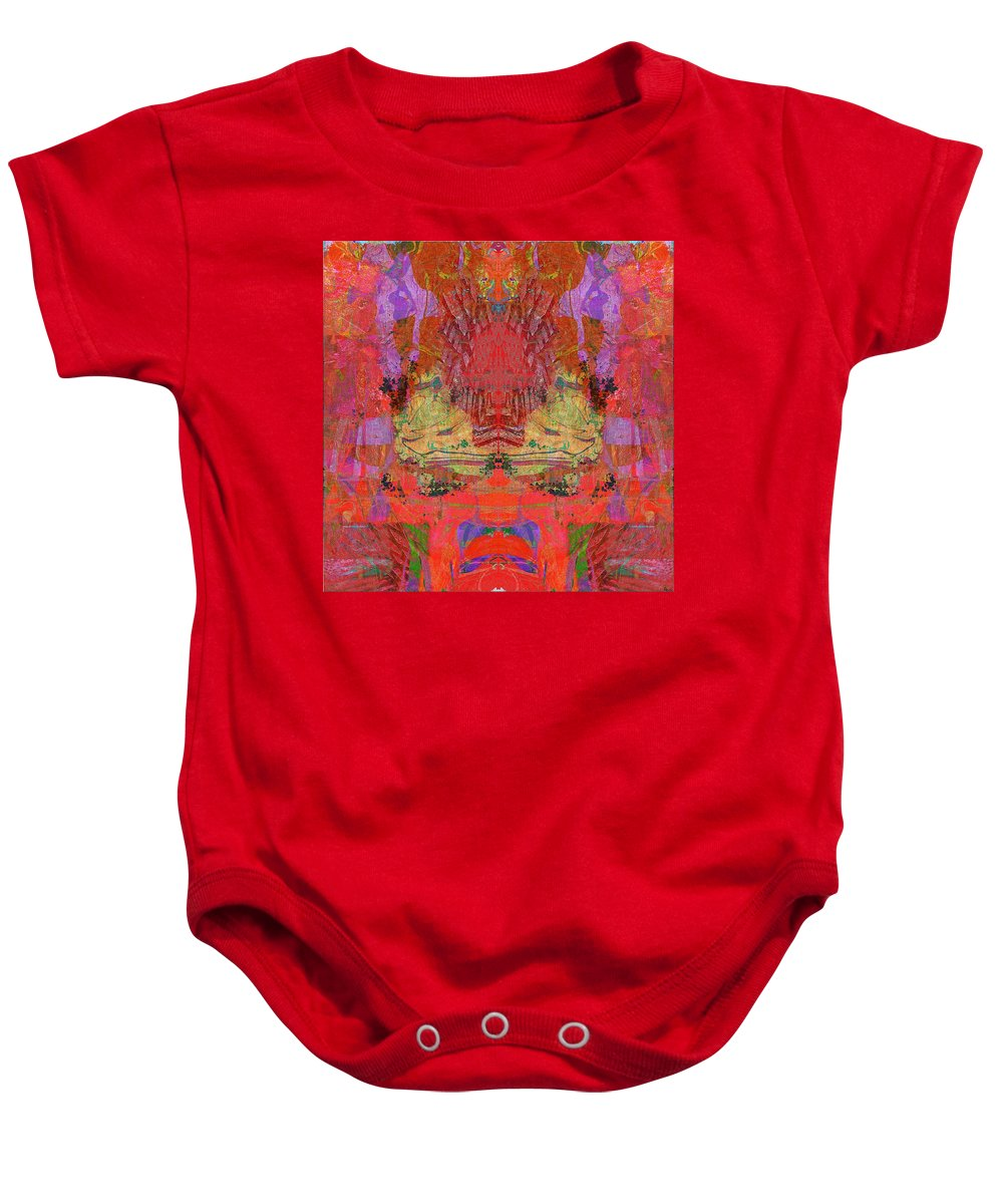 Abstract Baby Onesie featuring the digital art 1074 Abstract Thought by Chowdary V Arikatla