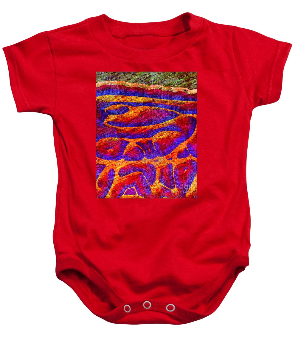 Abstract Baby Onesie featuring the digital art 1545 Abstract Thought by Chowdary V Arikatla