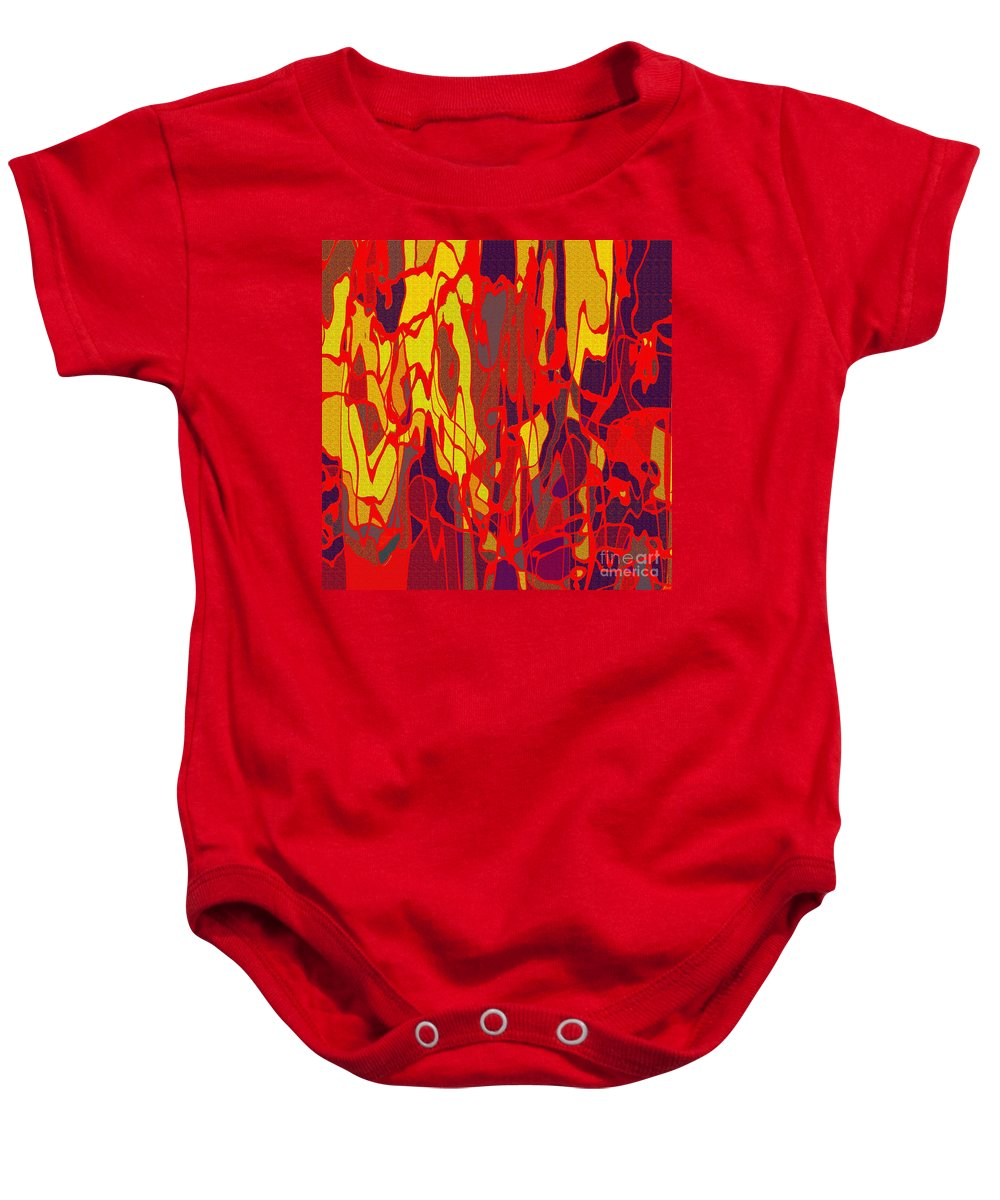 Abstract Baby Onesie featuring the digital art 0656 Abstract Thought by Chowdary V Arikatla