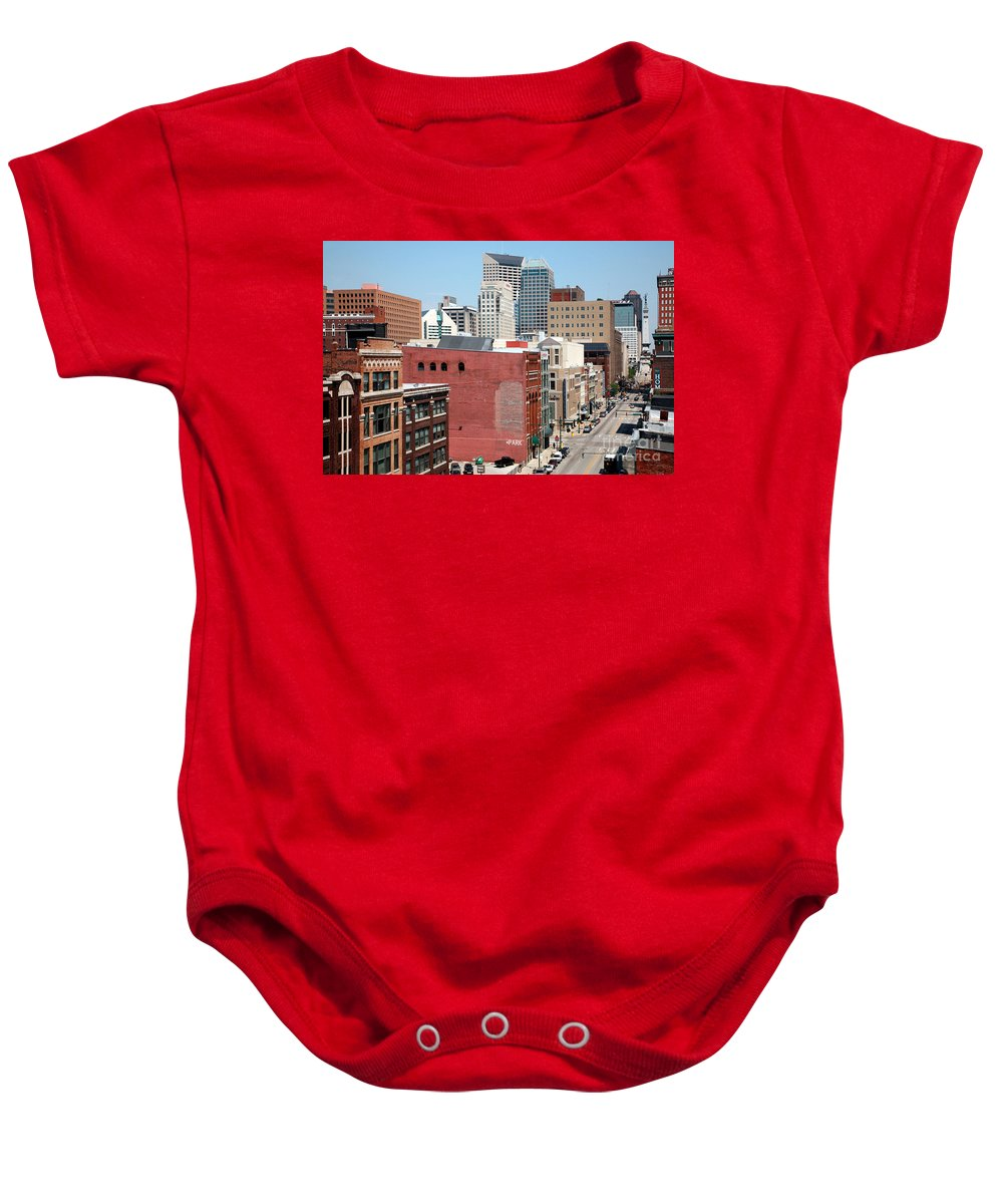 Skyline Scenes Baby Onesie featuring the photograph Indianapolis Indiana by Bill Cobb