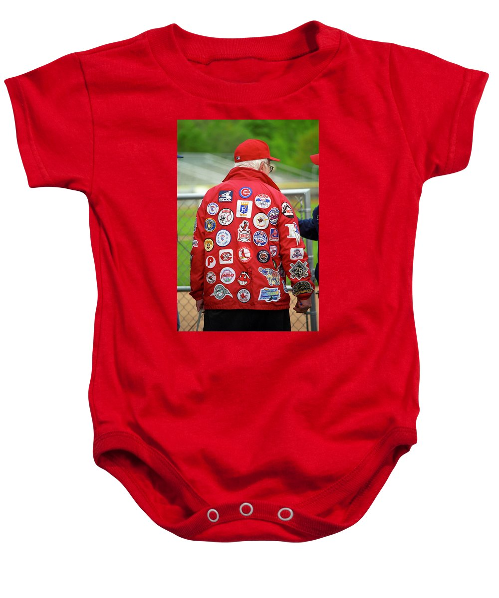 America Baby Onesie featuring the photograph The Baseball Fan by Frank Romeo