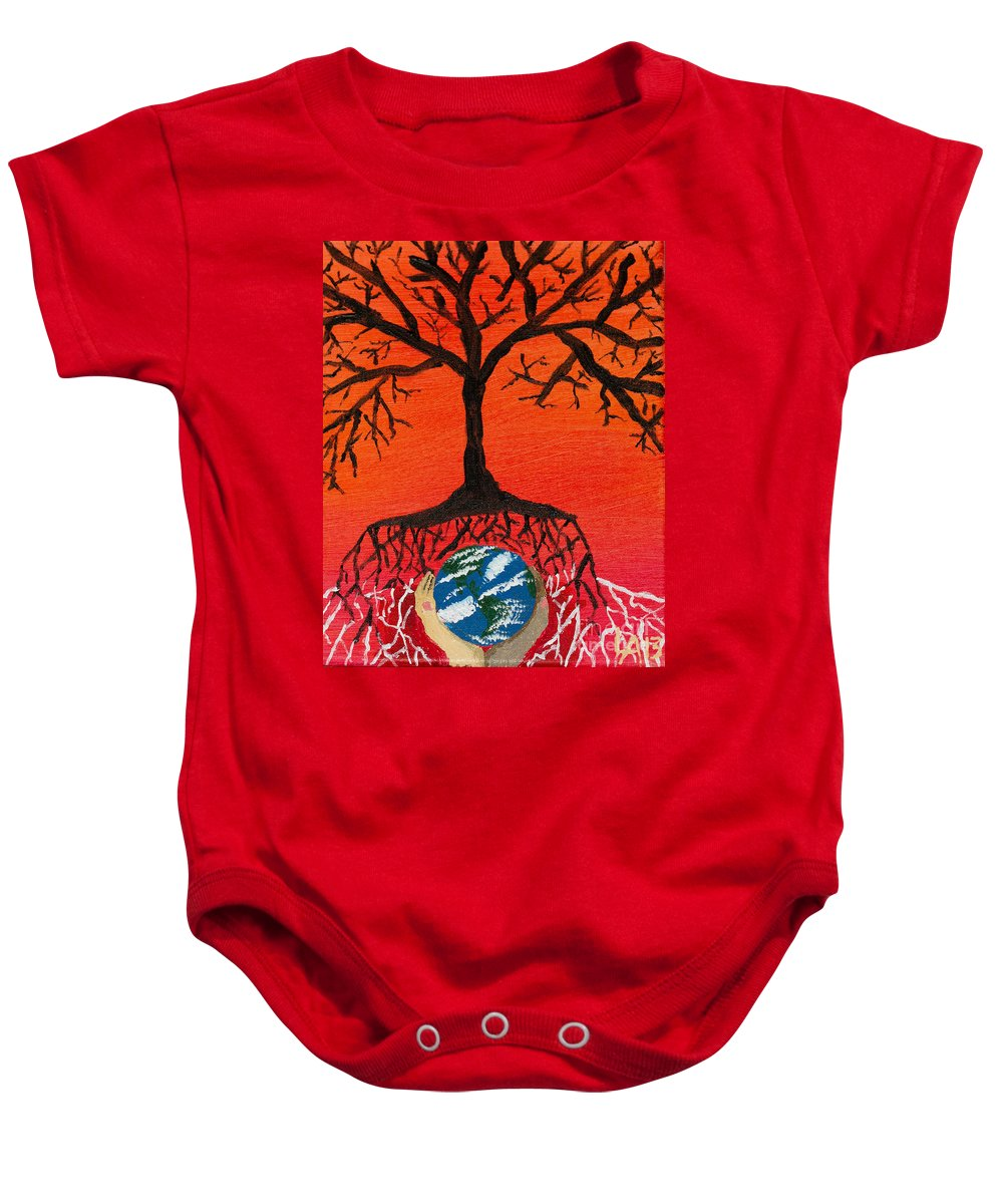 Tree Baby Onesie featuring the painting A Deeper Life by Lloyd Alexander