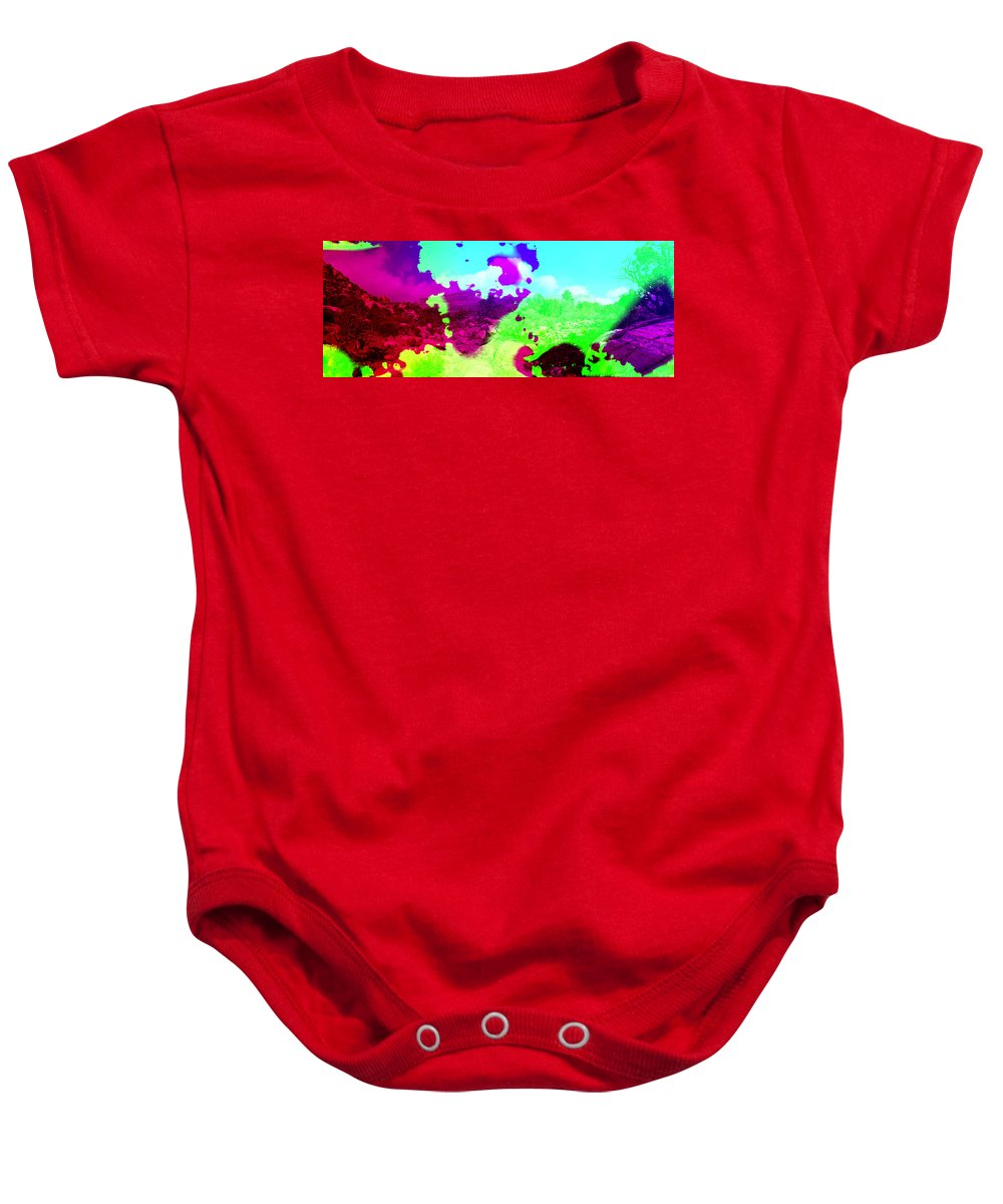 Abstract Baby Onesie featuring the photograph Abstract Desert Scene by Alan and Marcia Socolik