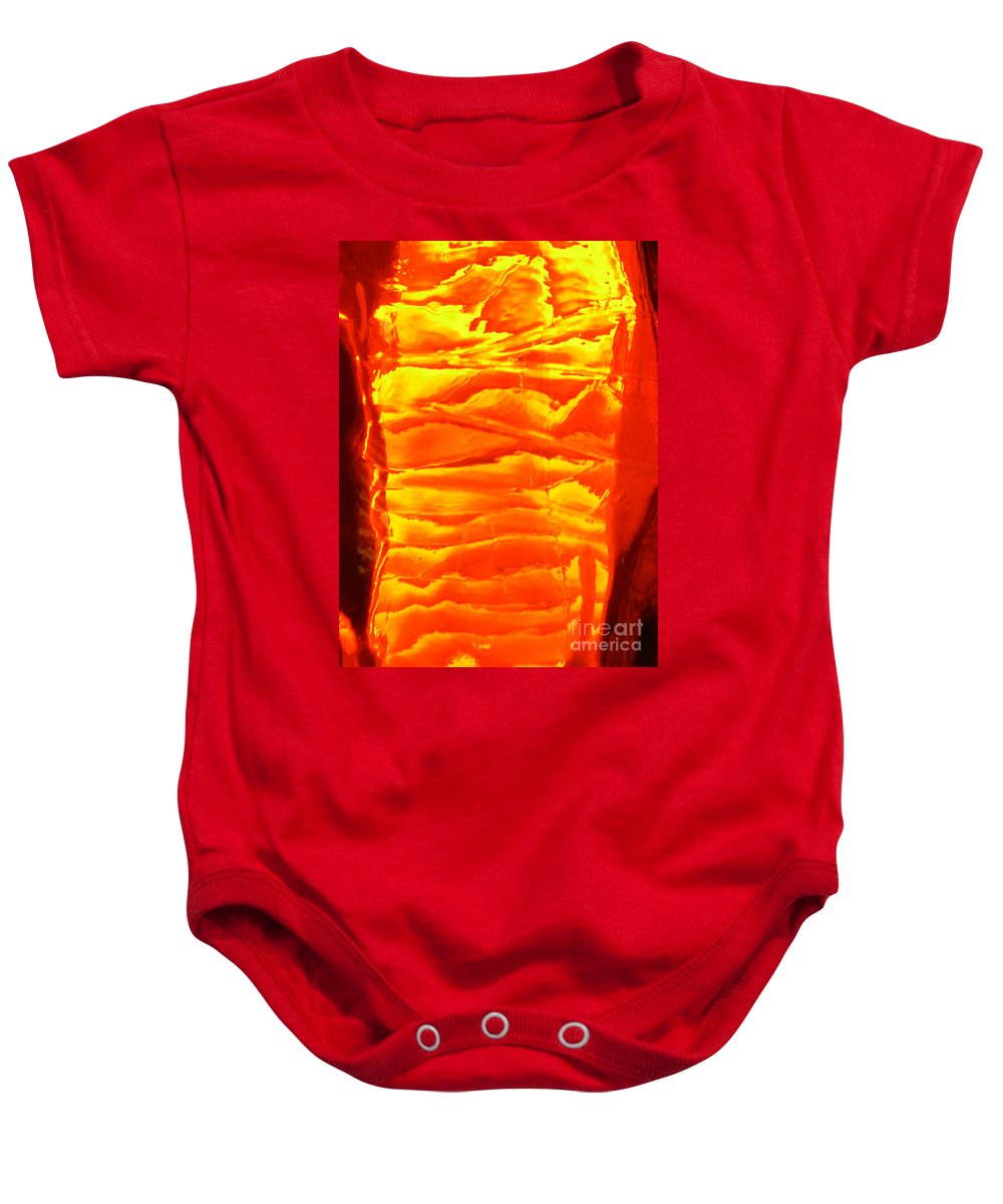 Orange Baby Onesie featuring the photograph Abstract Orange by Amanda Barcon
