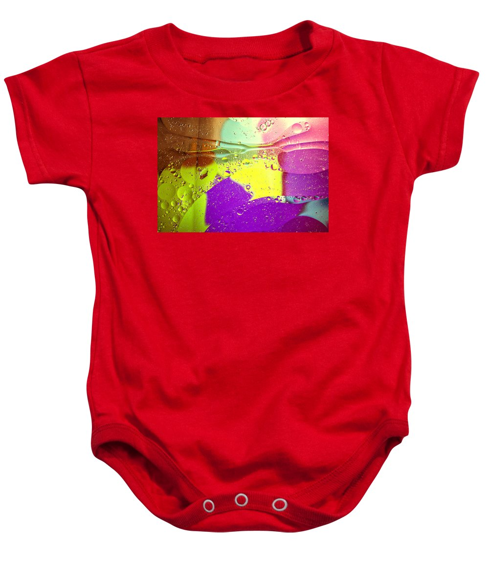 Abstract Baby Onesie featuring the photograph Abstract Pink by Spikey Mouse Photography