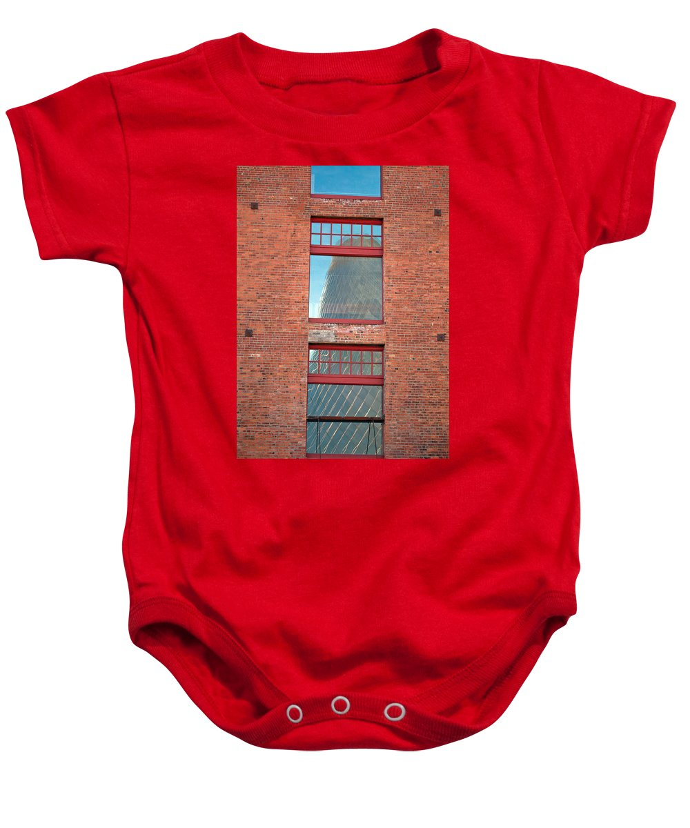 Tacoma Glass Museum Baby Onesie featuring the photograph Abstract Reflection by Tikvah's Hope