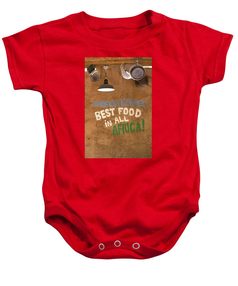 Food Baby Onesie featuring the photograph African Food by Randy Pollard
