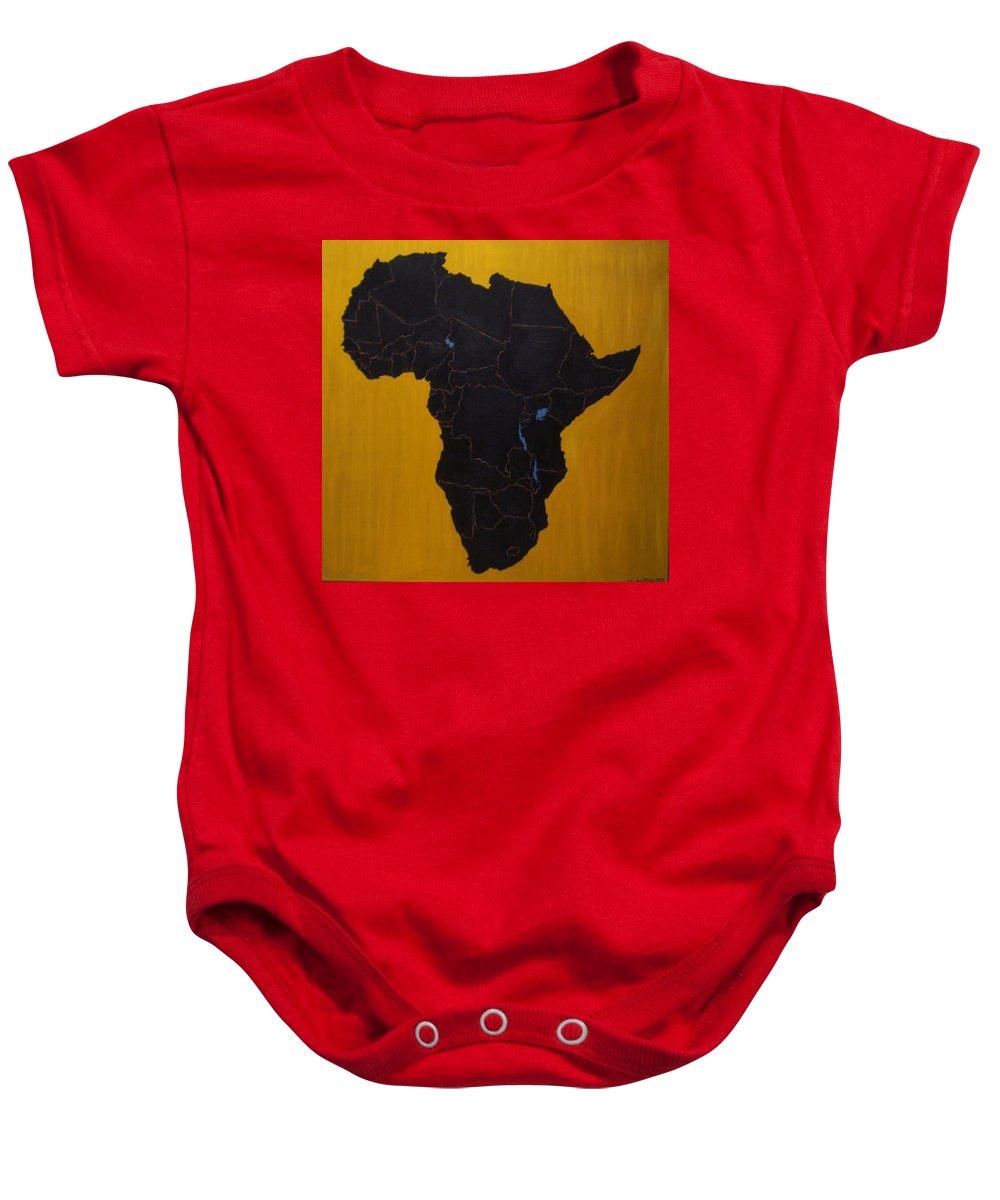 Africa Baby Onesie featuring the painting Afrika by Leslye Miller