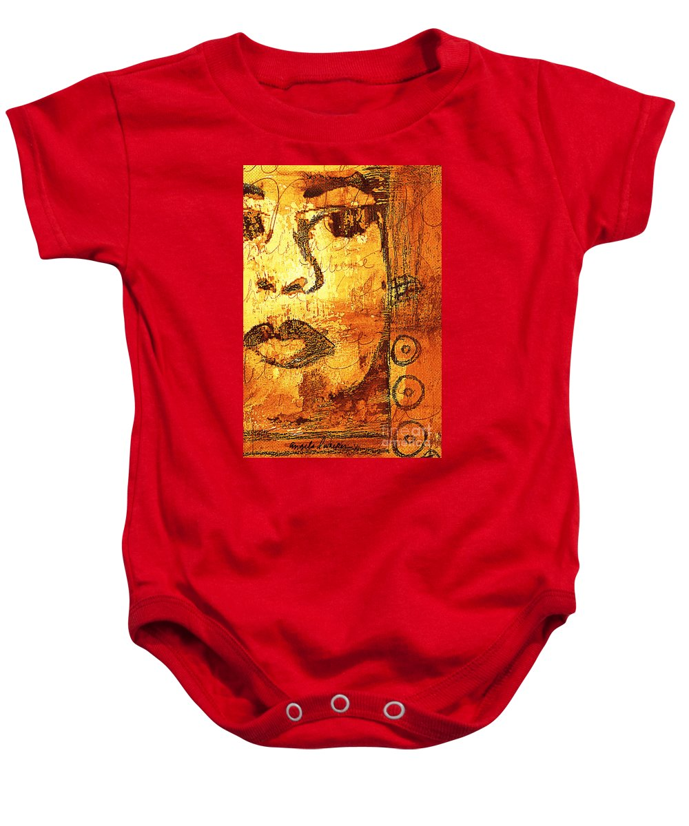 Mixed Media Baby Onesie featuring the digital art Ain't Nobody Got Time For That by Angela L Walker