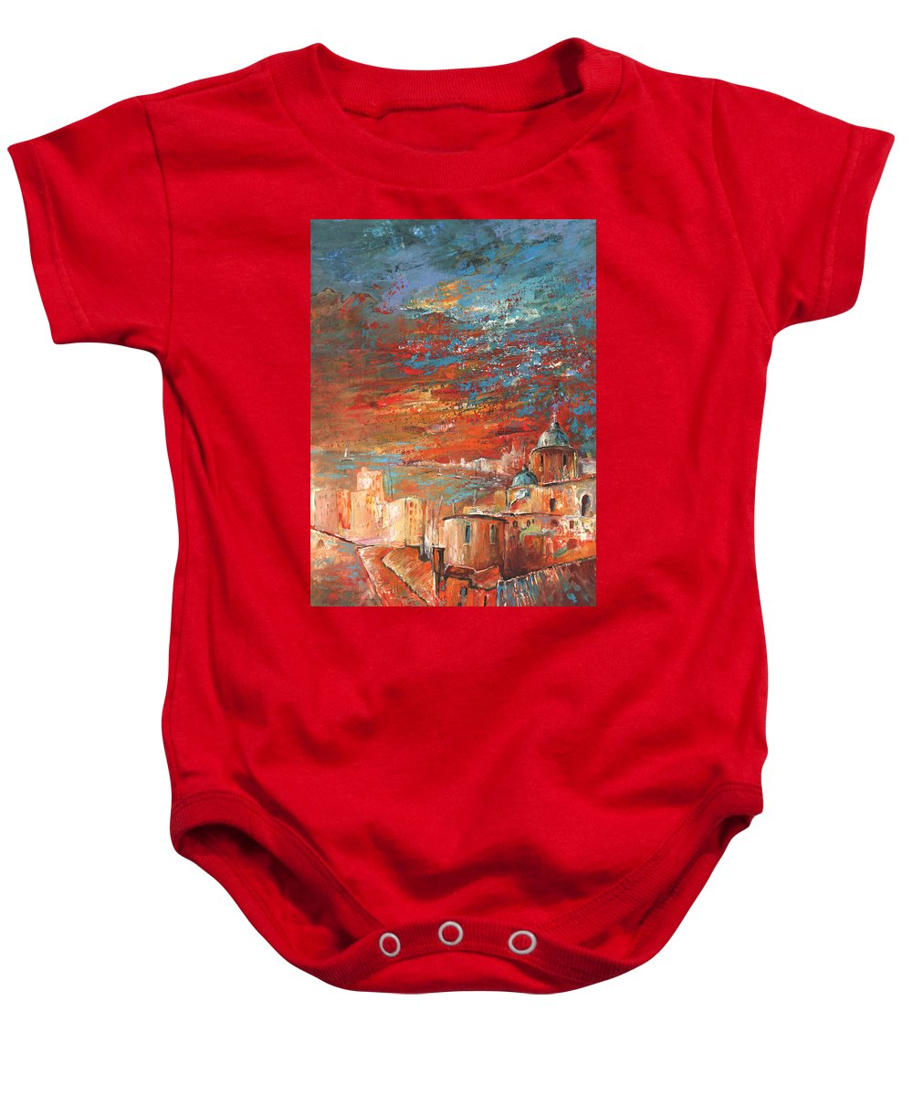 Travel Baby Onesie featuring the painting Altea 08 by Miki De Goodaboom