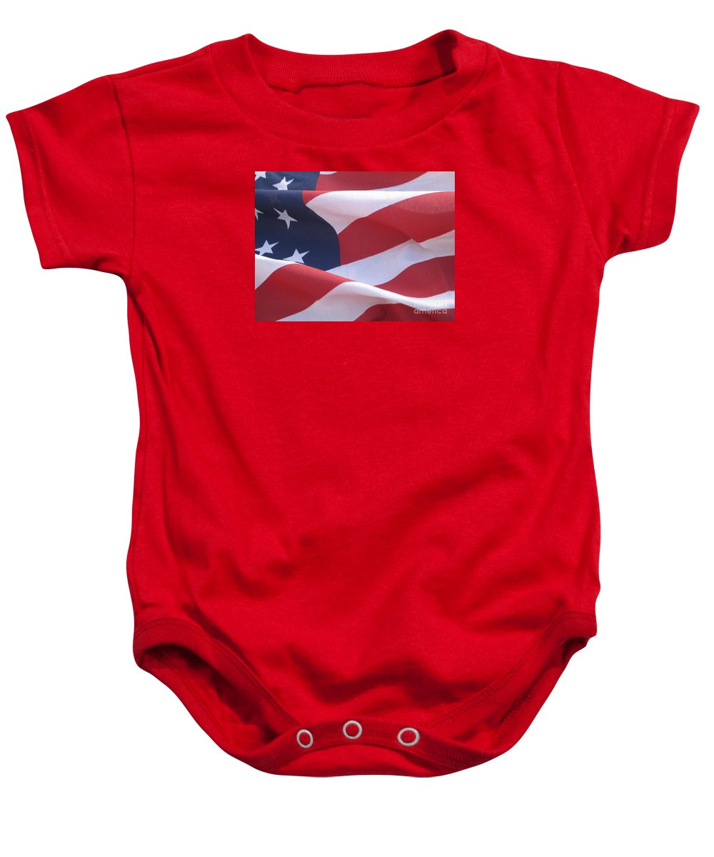 Photograph Baby Onesie featuring the photograph American Flag  by Chrisann Ellis