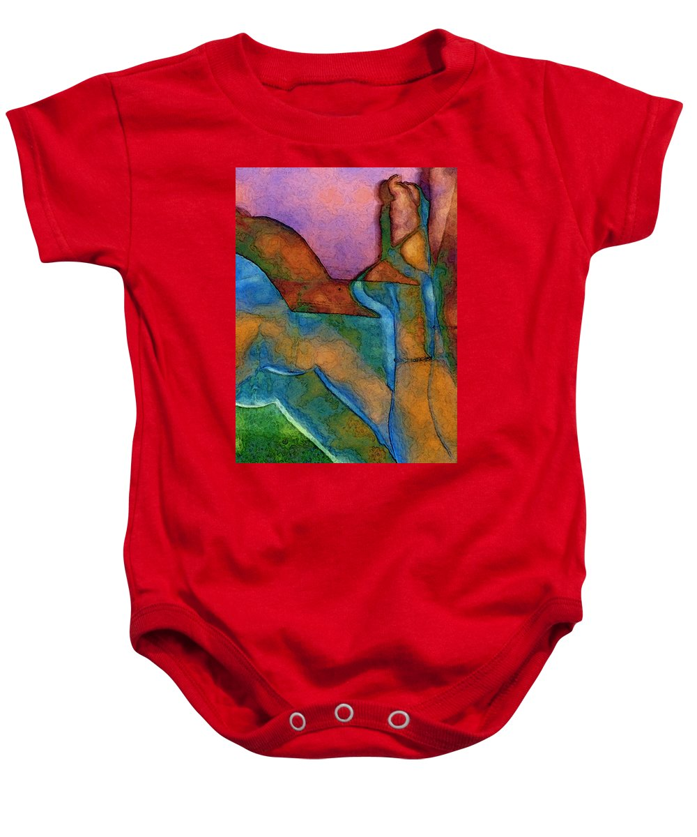 Digital Baby Onesie featuring the digital art Anklet by David Hansen