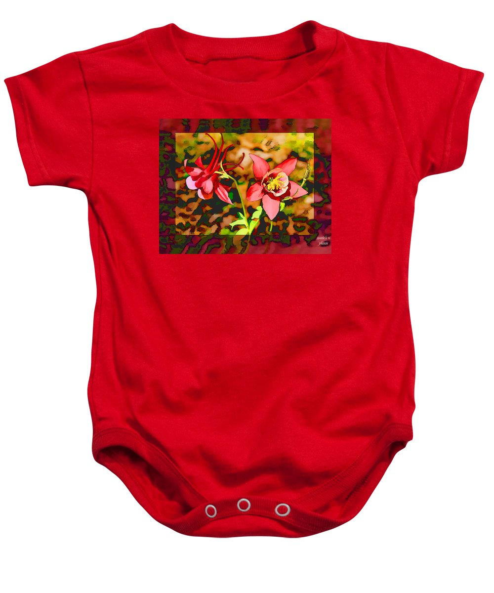 Flower Baby Onesie featuring the photograph Aqualigia Floral 11x14 by Bonnie Willis