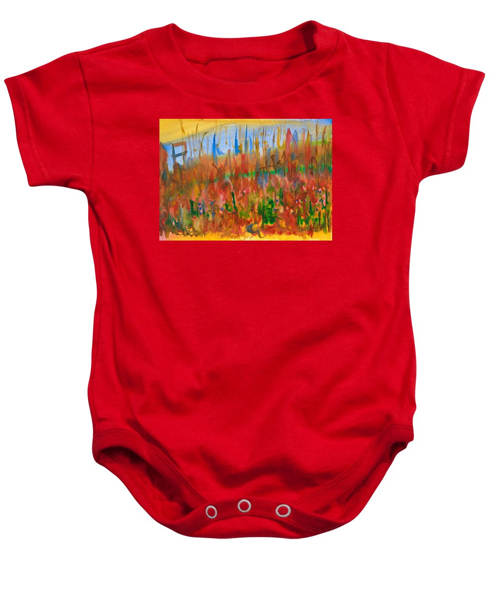 Fall Baby Onesie featuring the painting Autumn Leaves by Bjorn Sjogren