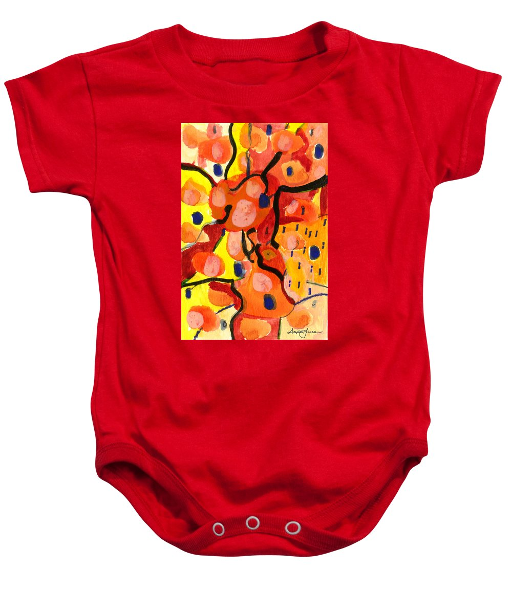 Abstract Art Baby Onesie featuring the painting Balloons At Mid-day by Stephen Lucas