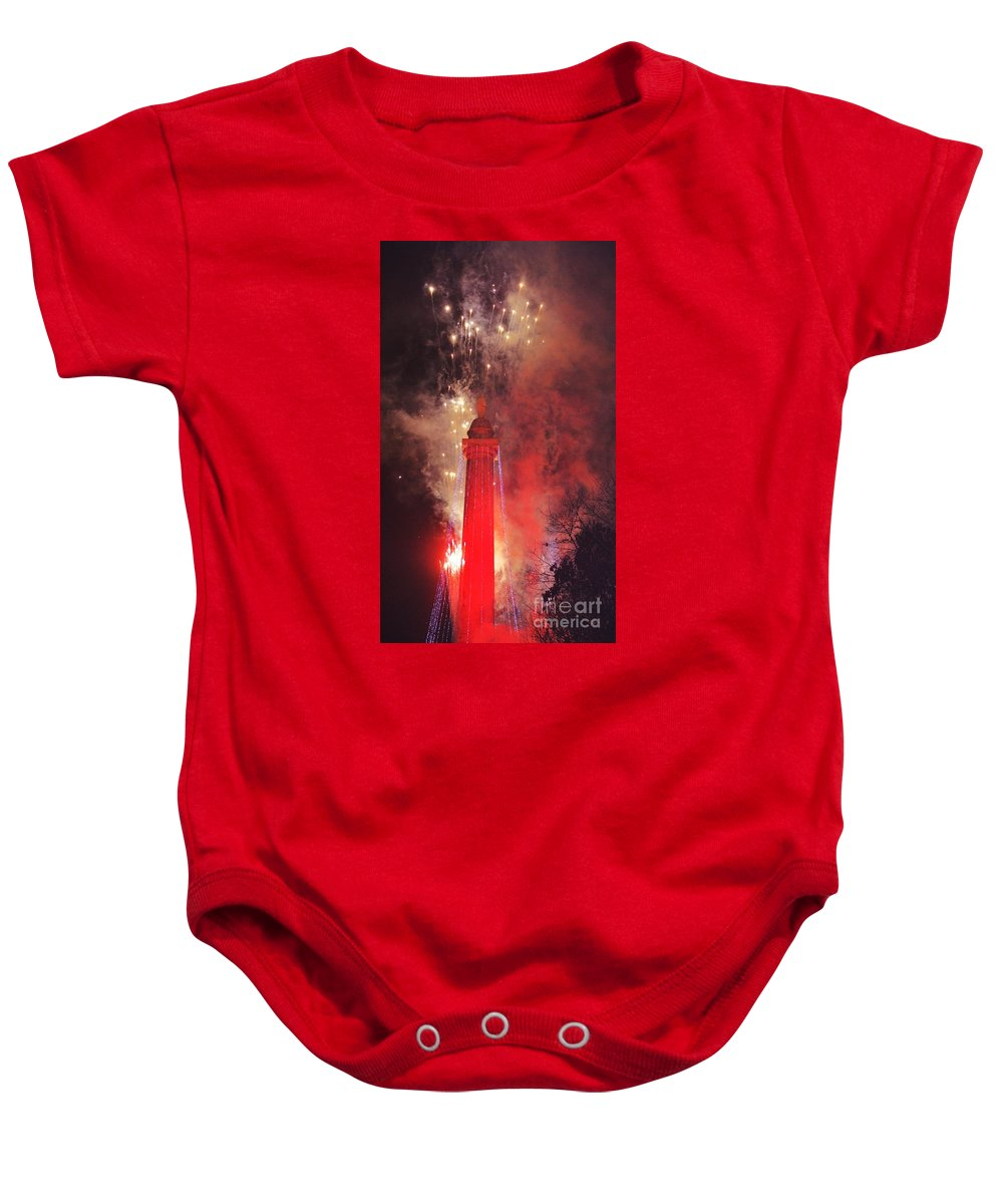 Fireworks Baby Onesie featuring the photograph Baltimore Celebrates With Passion by Marcus Dagan