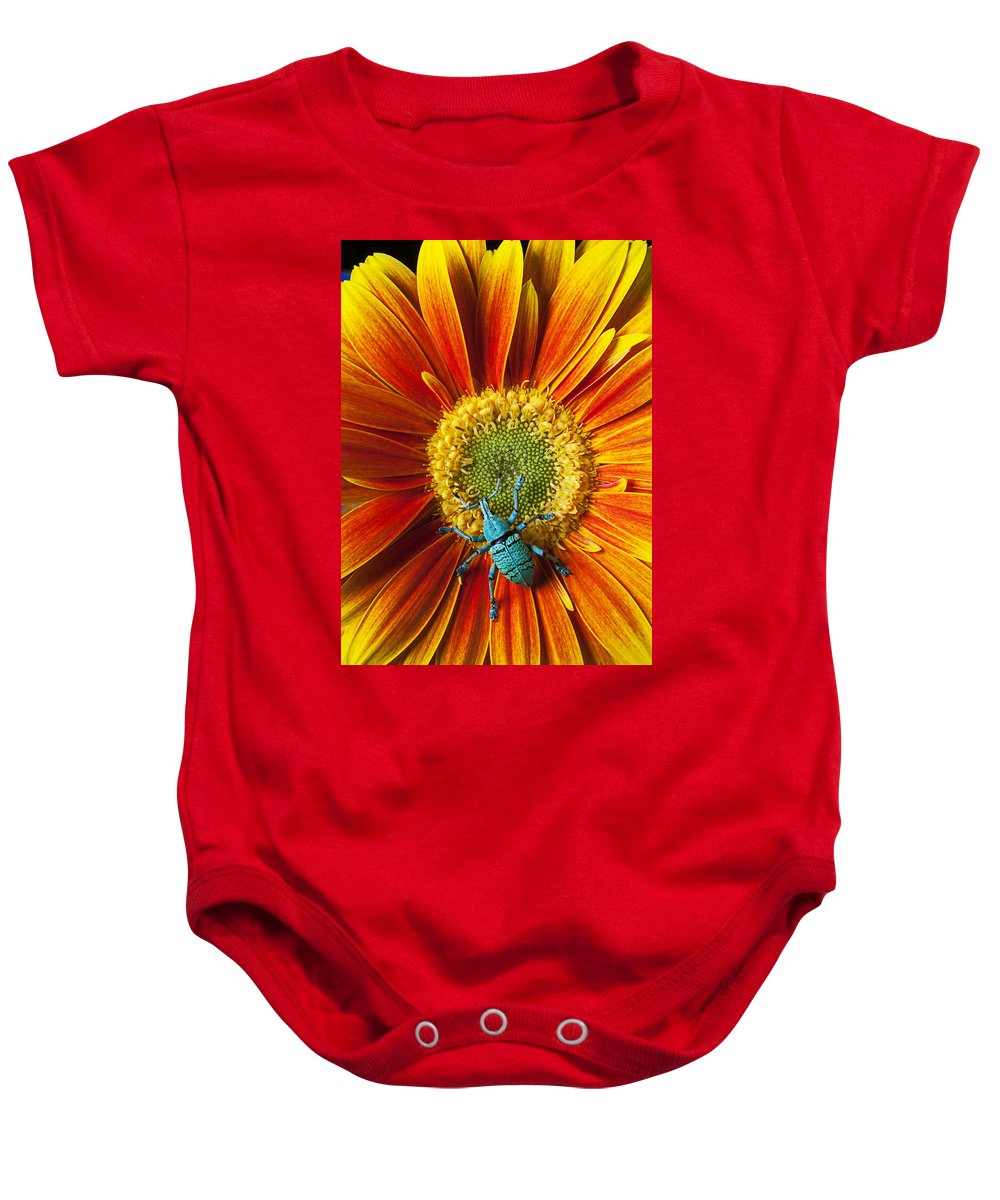 Boll Weevil Omum Baby Onesie featuring the photograph Boll Weevil On Mum by Garry Gay