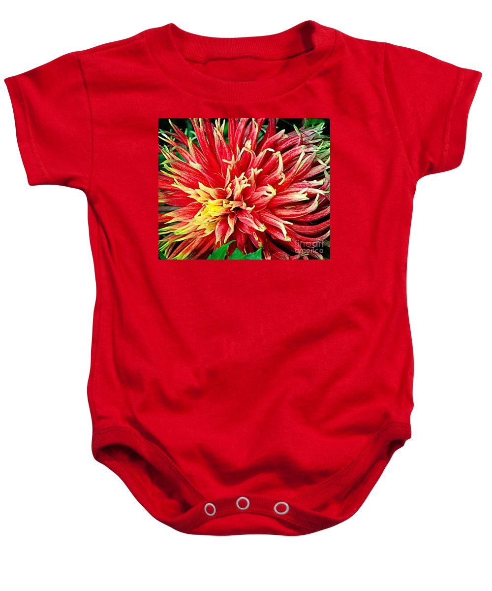 Dahlia Baby Onesie featuring the photograph Bright Colors by Kathleen Struckle