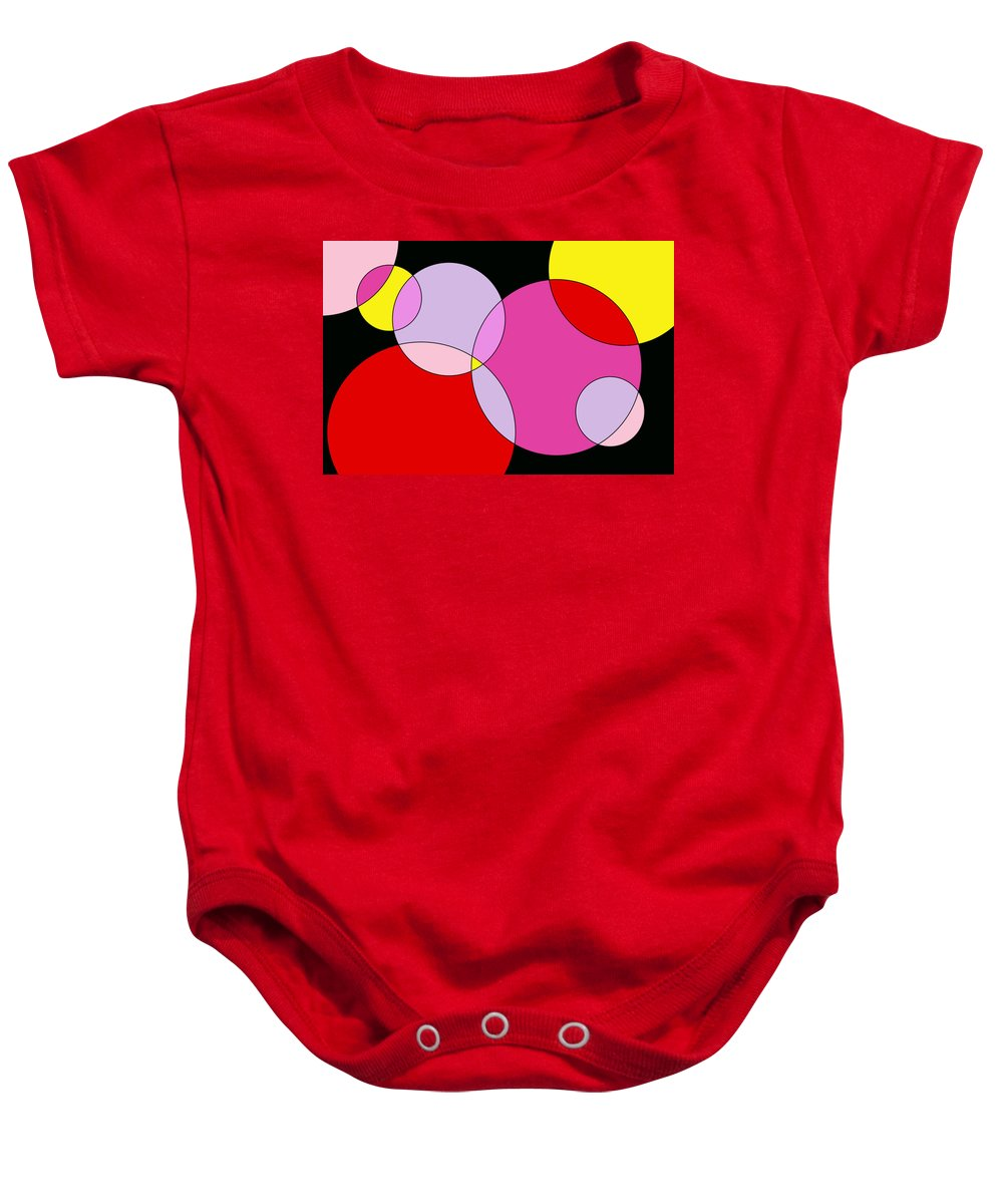 Geometric Baby Onesie featuring the digital art Bubble One by Jeff Gater