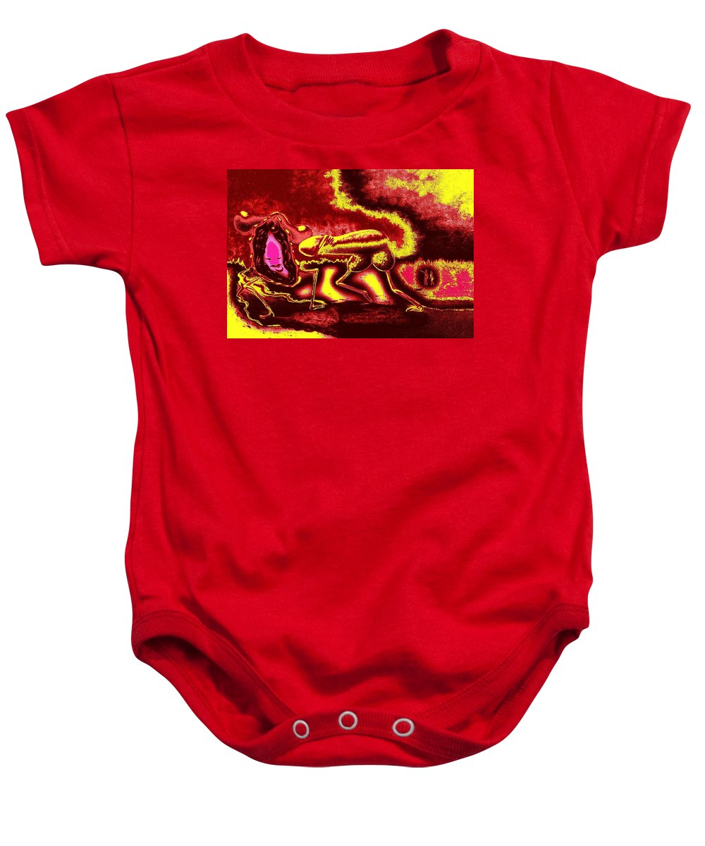 Genio Baby Onesie featuring the mixed media Burning Hot Passion by Genio GgXpress