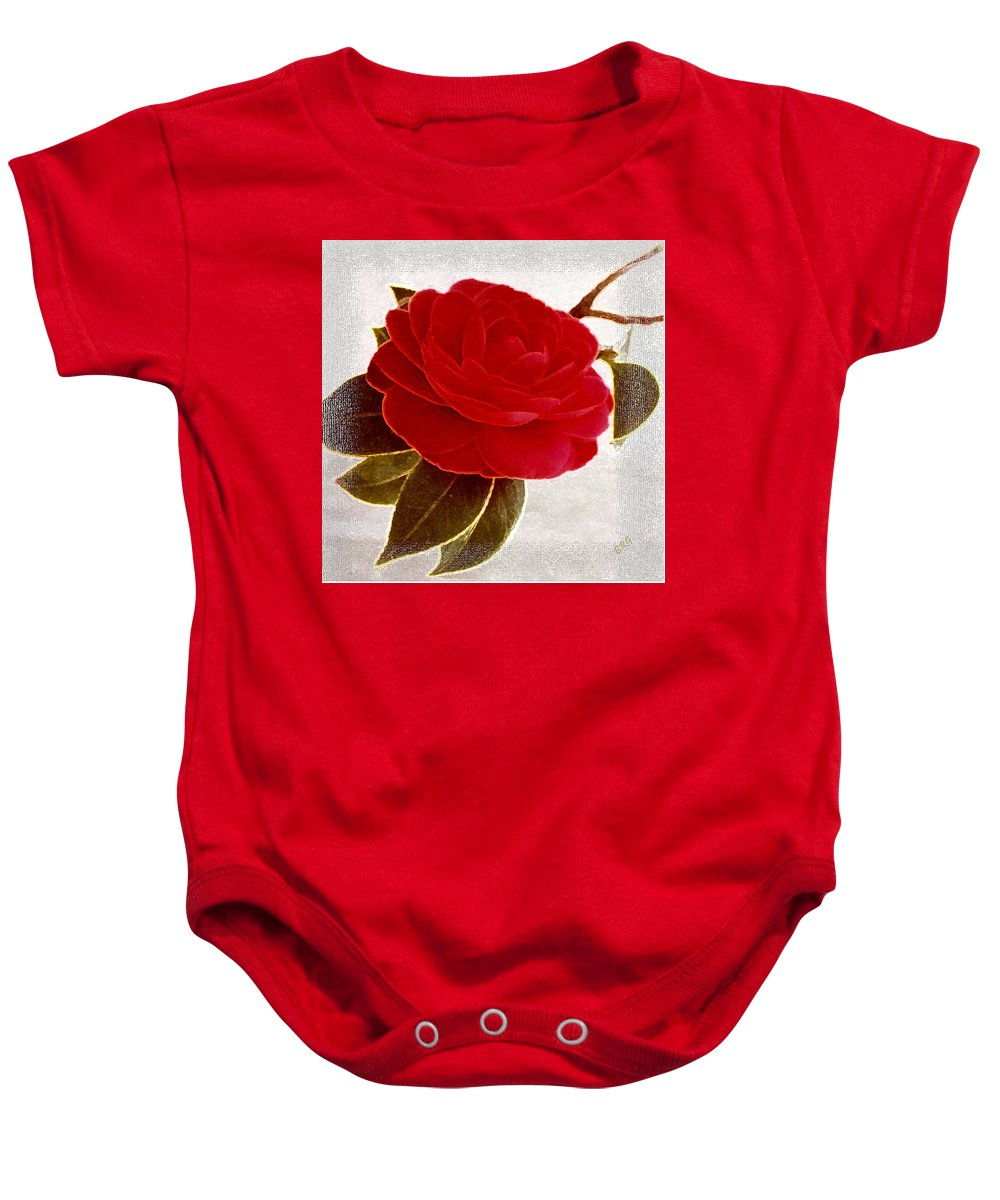 Camellia Baby Onesie featuring the photograph Camellia Spectacular by Ben and Raisa Gertsberg